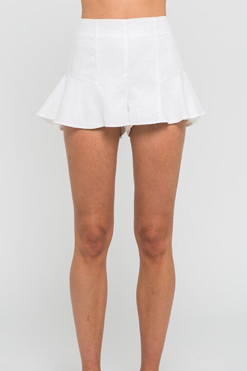 Yacht Week High Waist Ruffle Hem Short