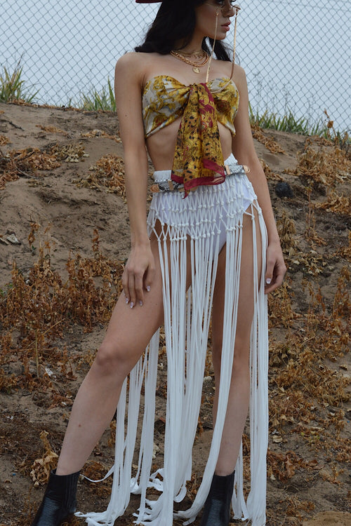 Gone Rogue Ivory Crochet Skirt- FINAL SALE