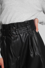 Bad to the Bone High Waist Faux Leather Short