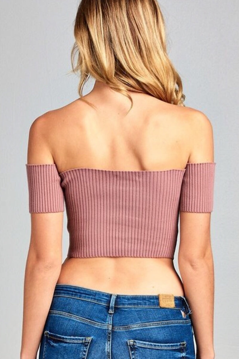 All the Boys Off Shoulder Top
