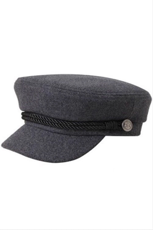 Charcoal Felt Fisherman Cap