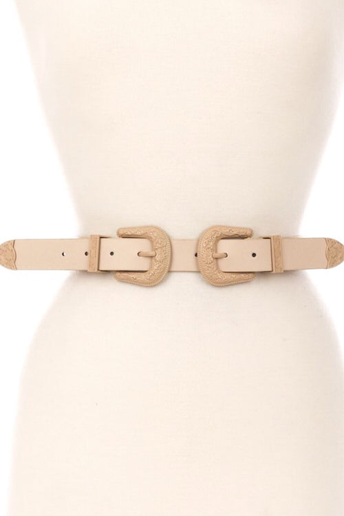 Wild Wild West Double Buckle Belt