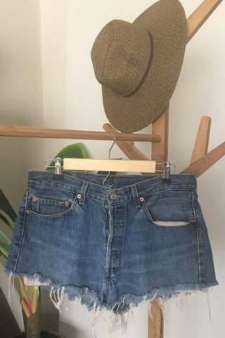 Vintage Levi's 501 Denim Short SIZE 5/6