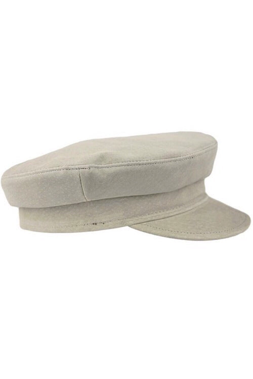 Suede Fisherman Hat in Light Gray
