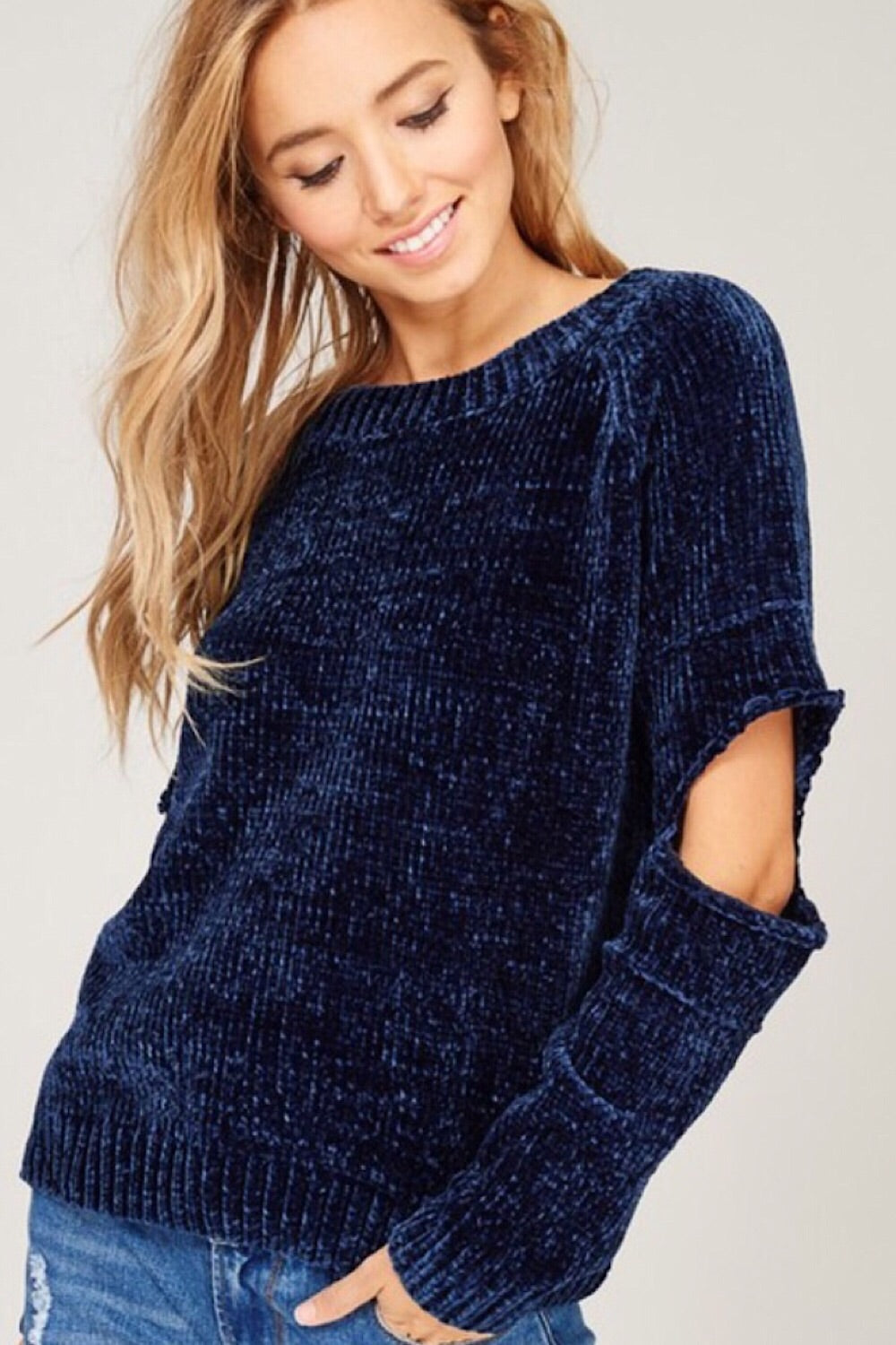 Clouded Judgement Chenille Crew Pullover Sweater