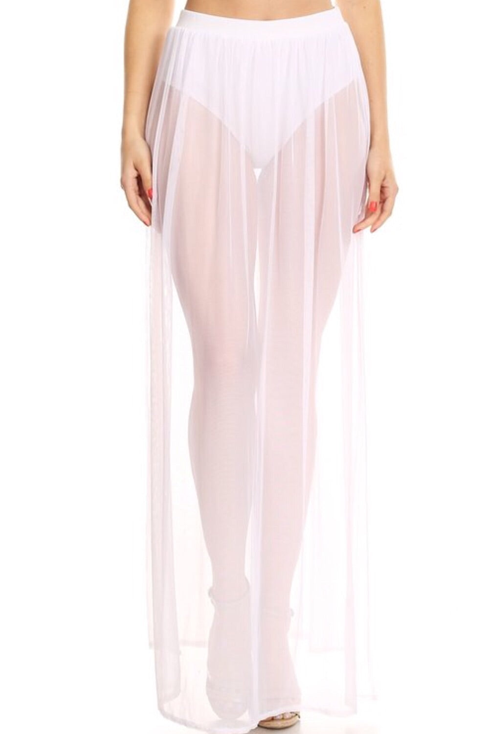 Sahara Sands Tulle Maxi Skirt White