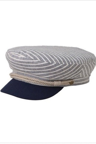 Plaid Greek Fisherman Cap