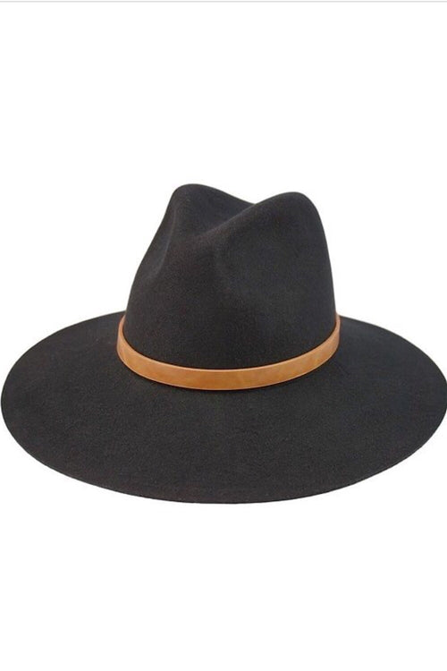 Lost at Night Panama Hat Black
