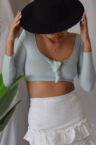 Laced Up Crop Top