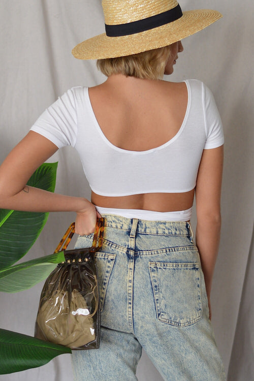 Tied Up Crop Top White