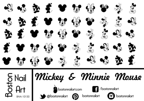 Mickey & Minnie Mouse - Set of 50 - Waterslide Nail Decal