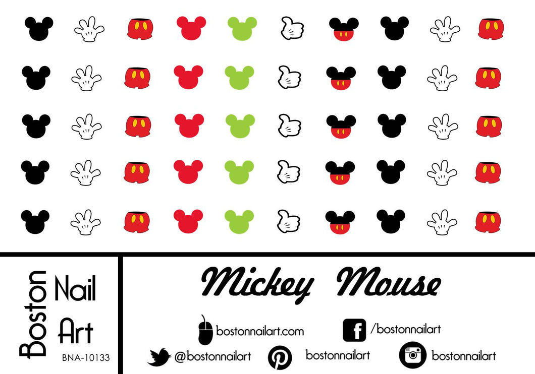 Mickey Mouse - Set of 50 - Waterslide Nail Decal
