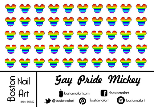 Gay Pride Mickey Mouse - Set of 50 - Waterslide Nail Decal