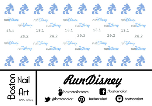 RunDisney - Set of 50 - Waterslide Nail Decal