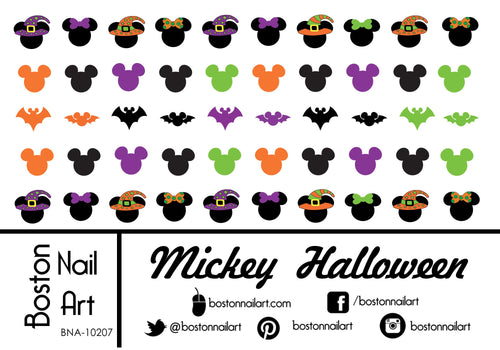 Mickey Mouse Halloween - Set of 50 - Waterslide Nail Decal