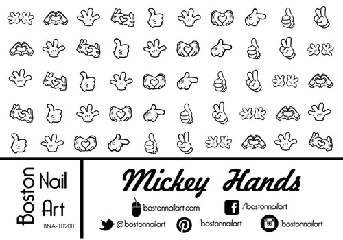 Mickey Mouse Hands - Set of 50 - Waterslide Nail Decal