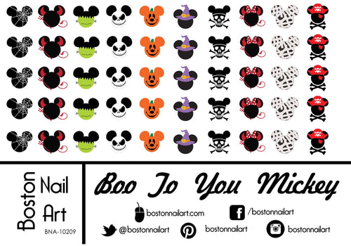 Mickey's Boo To You Halloween - Set of 50 - Waterslide Nail Decal