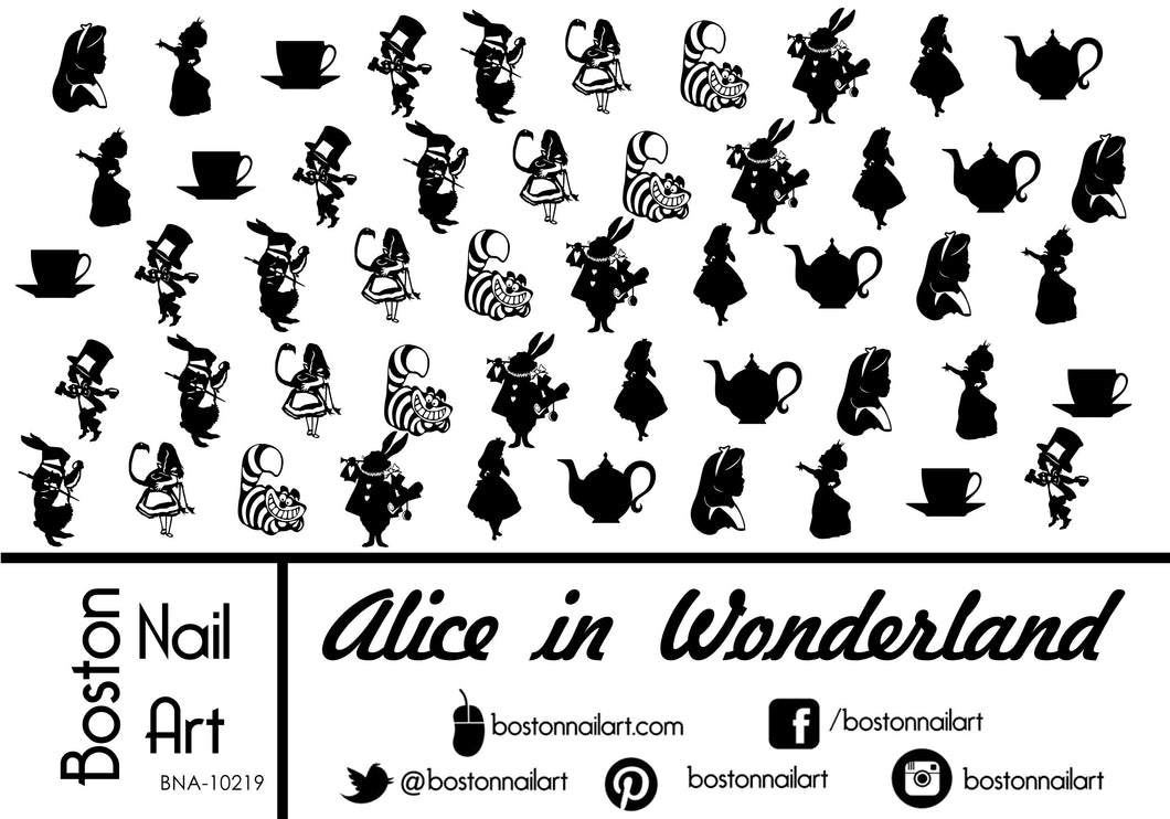 Alice in Wonderland - Set of 50 - Waterslide Nail Decal