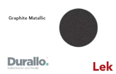 Graphite Metallic Durallo Splashback
