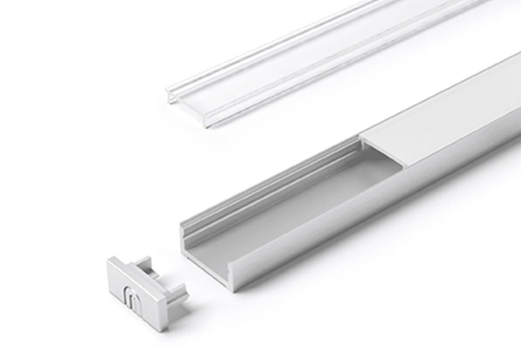 Hettich LED ChannelLine D Profil, opal, 3000 mm