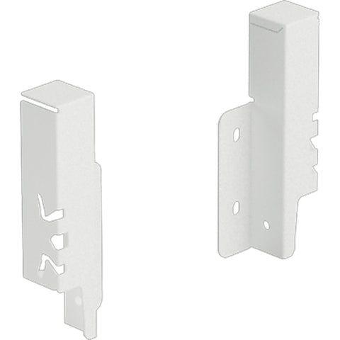Hettich Rear panel connector set ArciTech 126 mm, white, left and right