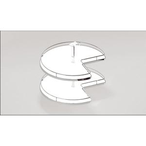 Hettich 3/4 Solid base carousel tray