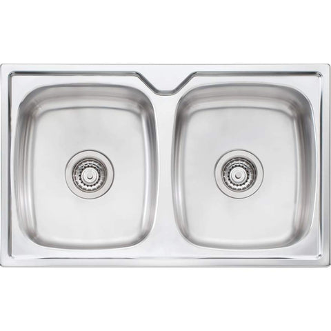 Oliveri Endeavour Double Bowl Topmount Sink