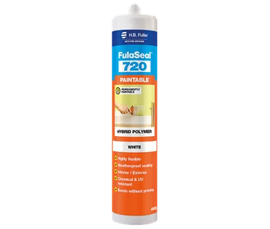 Fuller FulaSeal 720 Paintable Silicone Sealant 440g White