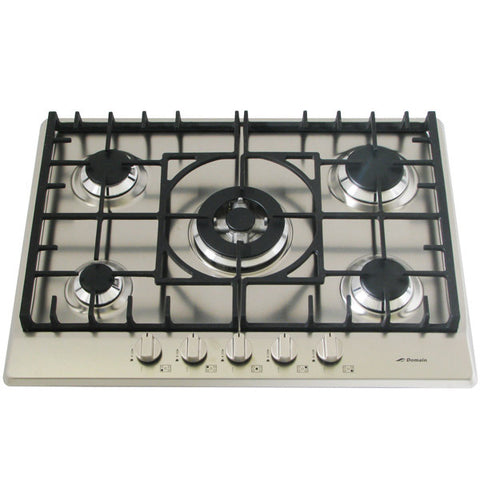 Domain Stainless Steel Gas Cooktop + FFD & Cast Iron Trivets