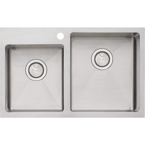 Oliveri Apollo 1 + 3/4 Offset Bowl Sink