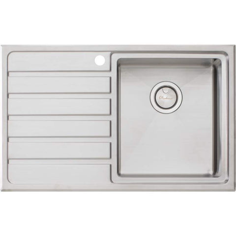 Oliveri Apollo Single Bowl Sink with Drainer