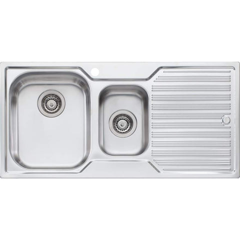 Oliveri Diaz 1 + 1/2 Bowl Topmount Sink with Drainer