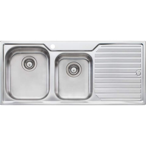 Oliveri Diaz 1 + 3/4 Bowl Topmount Sink with Drainer