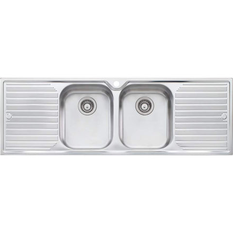 Oliveri Diaz Double Bowl Topmount Sink with Double Drainer