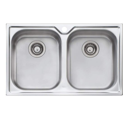 Oliveri Diaz Double Bowl Topmount Sink