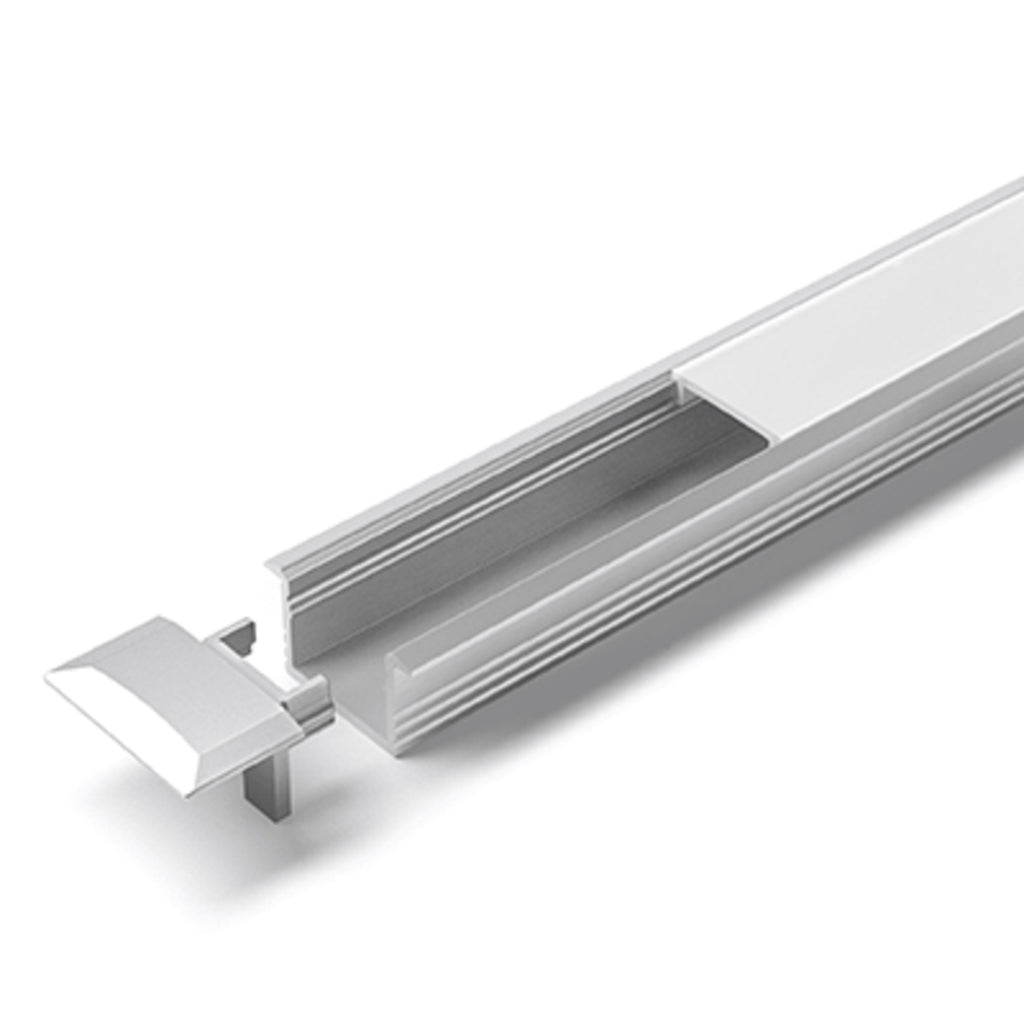 Hettich LED ChannelLine B Profil, opal, 3000 mm