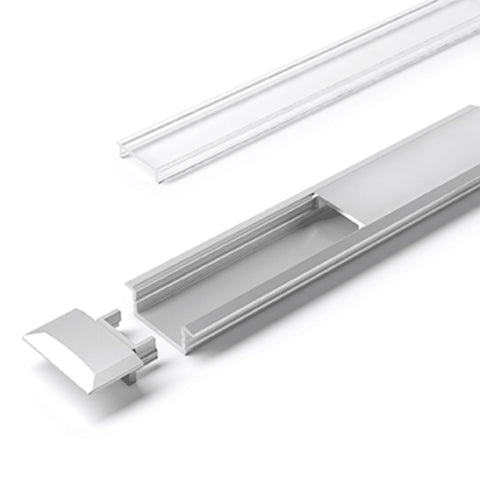 Hettich LED ChannelLine C Profil, opal, 3000 mm