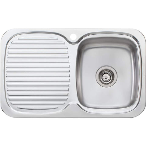 Oliveri LakeLand Single Bowl Topmount Sink with Drainer