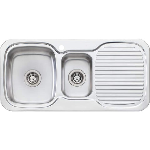 Oliveri LakeLand 1 + 1/2 Bowl Topmount Sink with Drainer