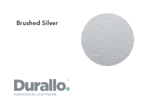 Brushed Silver Durallo Splashback