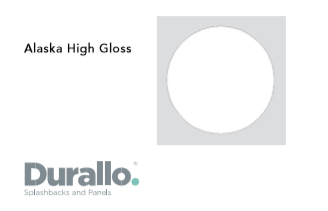 Alaska High Gloss Durallo Splashback
