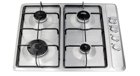 Domain 58cm 4Brn Gas Cooktop S/Steel