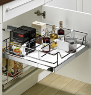 Hettich Internal pot-and-pan drawer with non-slip coating
