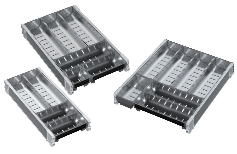 Stainless Steel Modular Cutlery Tray Set