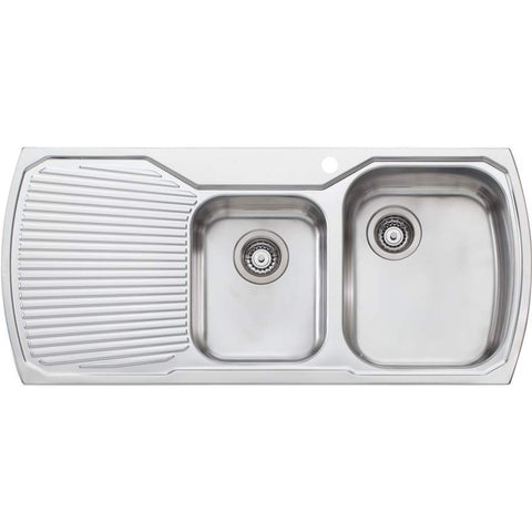Oliveri Monet 1 + 3/4 Bowl Topmount Sink with Drainer