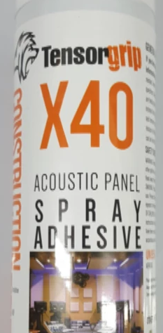 500ML Tensorgrip X40 Acoustic Panel Spray Adhesive-Aerosols 12/ctn