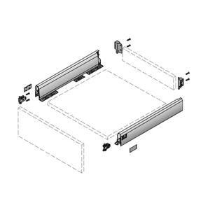 Hettich ArciTech Drawer Set Silver