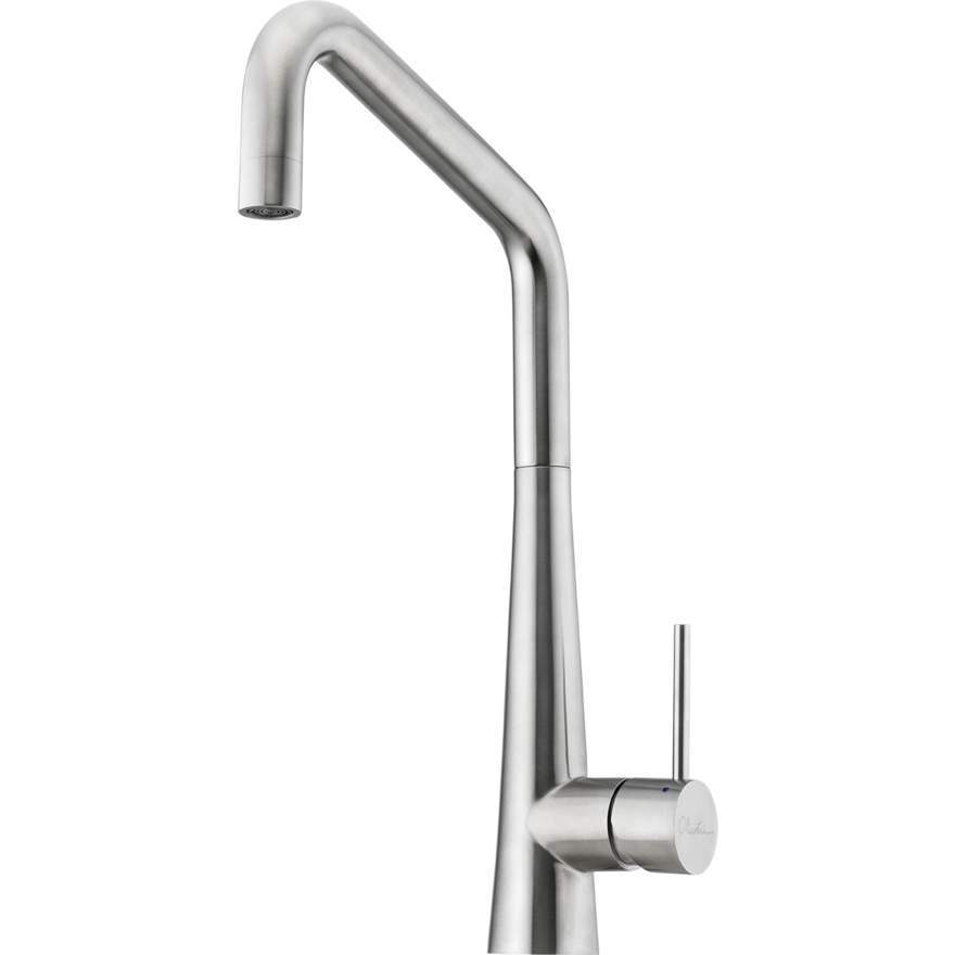 Oliveri Essente Stainless Steel Square Goose Neck Mixer