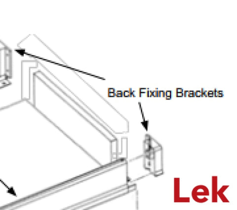 Back Fixing Brackets for B01 drawers