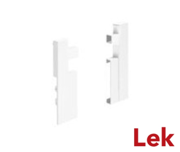 Hettich InnoTech Atira Connector for aluminium front panel , 144, left and right, white
